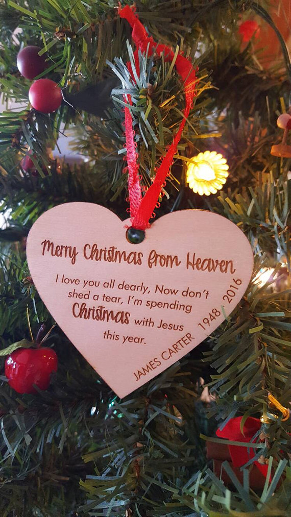 personalized memorial christmas ornament engraved baby loss memorial christmas ornament christmas ornament memorial gift keepsake ornament baby loss